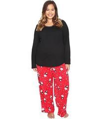 Jockey Plus Size Microfleece PJ Set