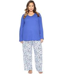 Jockey Plus Size Knit Two-Piece Pajama Set