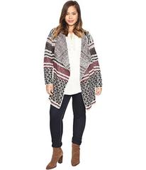 Lucky Brand Plus Size Mixed Stripe Cardigan
