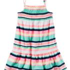 Neon Striped Jersey Dress
