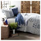 Monique 3 Piece Blue Quilt Set - Lush Decor