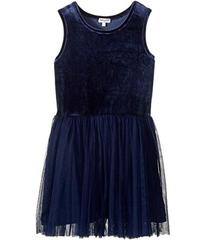 Splendid Littles Velour with Triple Mesh Dress (Bi