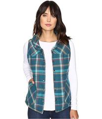 Stetson Teal Ombre Plaid Quilted Vest