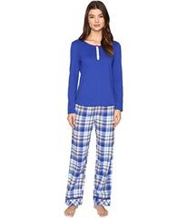 Jockey PJ Set with Flannel Plaid Pants