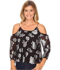 Lucky Brand Silver Flower Cold Shoulder Top