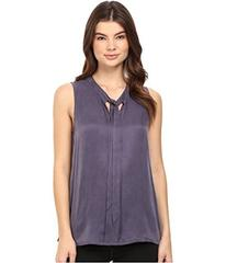 Splendid Washed Cupro Sleeveless Necktie Top