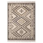 Wool Kilim Neutral Area Rug With Normal Fringe