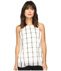Vince Camuto Sleeveless Stripe Duet Blouse with Kn