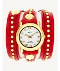 La Mer Collections Red Gold Bali Stud Wrap Watch