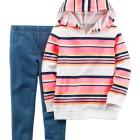 2-Piece French Terry Hoodie & Jegging Set