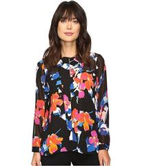 Vince Camuto Long Sleeve Floral Rendezvous Keyhole