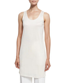 TOM FORD Oversized Scoop-Neck Tank/Tunic/Dress, Ch