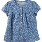 Chambray Floral Top