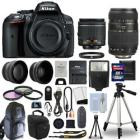 Nikon D5300 Digital SLR Camera + 4 Lens Kit: 18-55