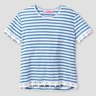 Girls' Say What? Striped Daisy Top - Blue