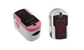 Fingertip Pulse Rate Oximeter with Case and Neck/W