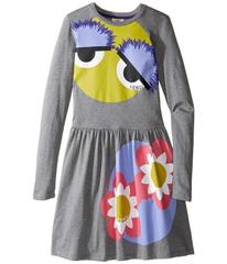 Fendi Long Sleeve Fit and Flare Dress w/ Monster E