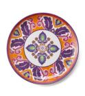 LivingQuarters Old Havana Medallion Dinner Plate