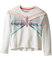 Lucky Brand French Terry Pullover Shirt with Embro