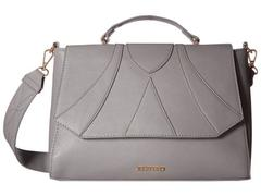 Rampage Faux-Leather Piecing Satchel