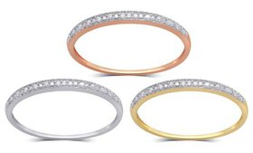 Diamond Accent Band in 10K Solid Gold by Brilliant