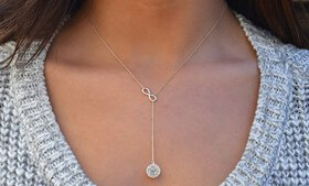 Infinity Y Necklace made with Swarovski Elements i