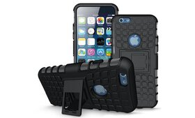 Kuteck TPU Hybrid Armor Stand Slim Case for iPhone