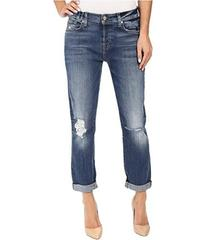 7 For All Mankind Josefina w/ Knee Holes in Abbey