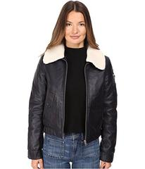See by Chloe Leather Jacket with Shearling Collar