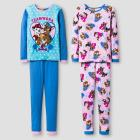 Girls' PAW Patrol® 4 Piece Pajama Set - Blue