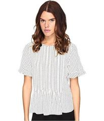 Kate Spade New York Pin Dot Pintuck Top
