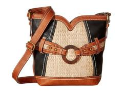 b.o.c. Nayarit Vinyl/Straw Sweetheart Crossbody