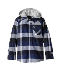 Hurley Hooded Long Sleeve Flannel (Little Kids)