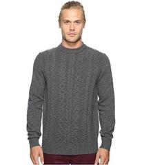 Ben Sherman Long Sleeve Cable Front Crew Neck Swea