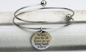 Pink Box Double-Wrap Stainless Steel Inspirational