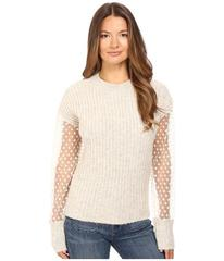 See by Chloe Knit Pullover with Sheer Sleeves