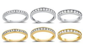 1/4–1 CTTW Diamond Channel Wedding Band In 10K Gol