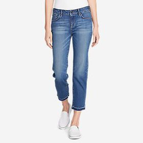 Women's Elysian Slim Straight Crop Jeans - Rel