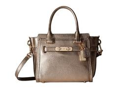 COACH Pebbled Leather Coach Swagger 21