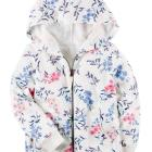 Floral French Terry Zip-Up Hoodie