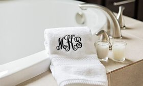 Personalized Luxury Hand Towels from Qualtry (Up t