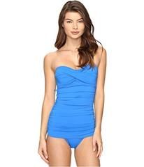 Tommy Bahama Pearl Twist-Front Bandeau One-Piece S