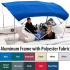 """Shademate Polyester 4-Bow Bimini Top, 8'L x 42""""H,"""
