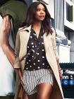 7th Avenue - Tie-Front Bow Blouse - Polka-Dot Prin