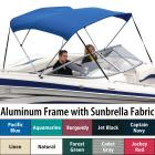 "Shademate Sunbrella 3-Bow Bimini Top, 6'L x 54""H,"