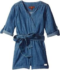 7 For All Mankind Romper in Beach Blue (Little Kid