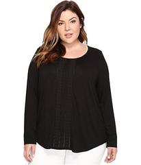 NYDJ Plus Size Plus Size Knit and Woven Pleated To