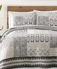 Jessica Simpson Ebony & Ivory Cotton Quilt and Sha