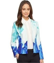 Tahari by ASL Printed Crepe Open Jacket