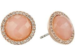 Fossil Pink Stone Studs Earrings